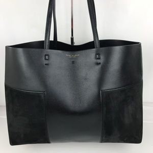 New Tory Burch Block-T Tote Black Leather 31106001